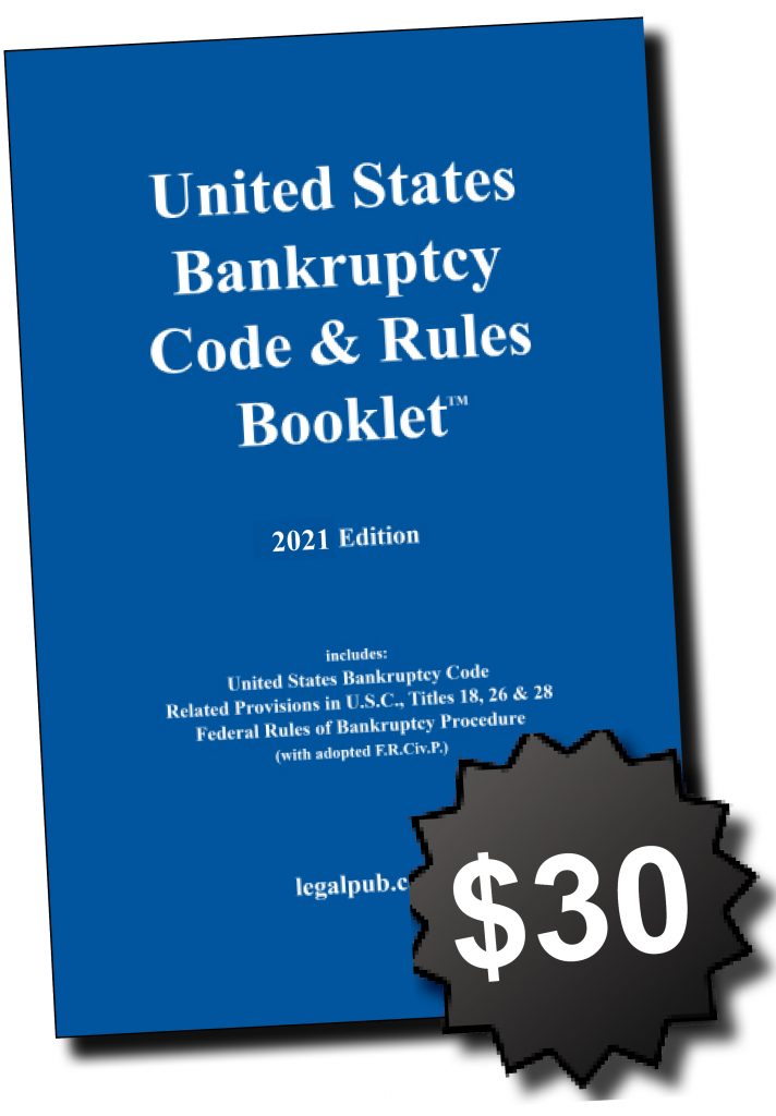 Front cover of the 2021 U.S. Bankruptcy Code and Rules Booklet