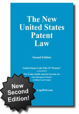 Front cover of the New United States Patent Law, 2d Edition